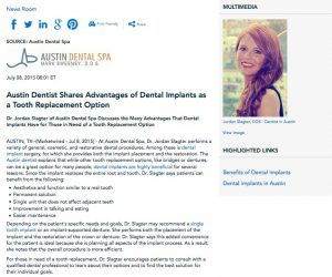 austin dentist,dental implants,single tooth implant,porcelain veneers,pinhole gum rejuvenation